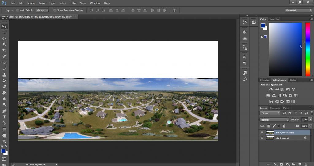 photoshop facebook panorama tutorial 360
