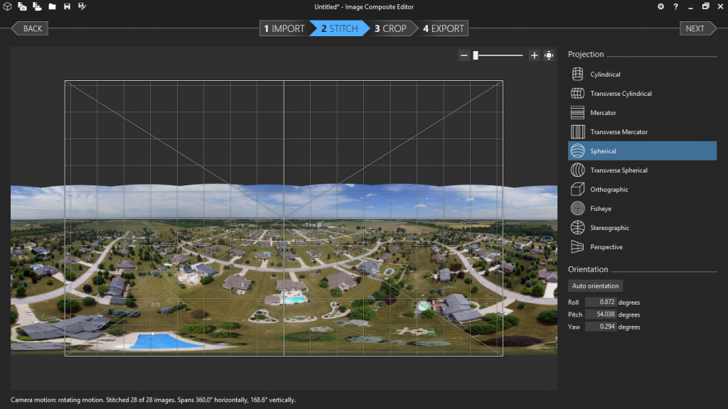 Horizon should be flat. You can adjust with the mouse.