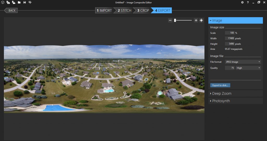 export image tutorial microsoft ice panorama 360 facebook